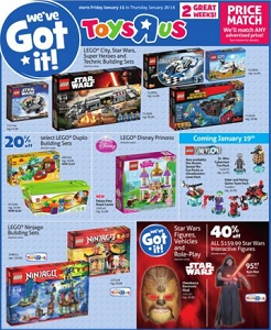 Toys R Us Flyer. Lego Star Wars Building Set