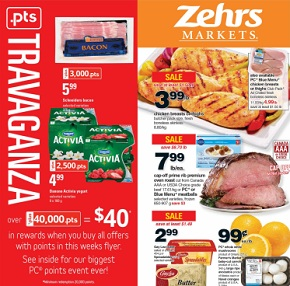 Zehrs Weekly Flyer January 15 – 21, 2016. Points Travaganza