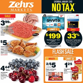 Zehrs Weekly Flyer January 22 – 28, 2016. Extra Lean Ground Beef