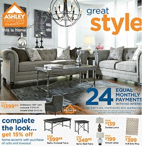 Ashley Furniture Flyer 2/4-2/24/2016