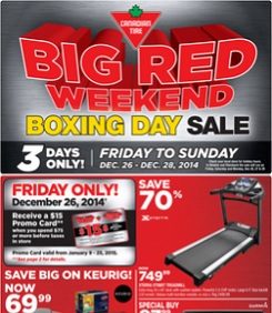 Canadian Tire Boxing Day 2014 Flyer