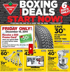 Canadian Tire Early Boxing Day Sales