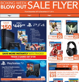 EB Games Boxing Day 2014 sales