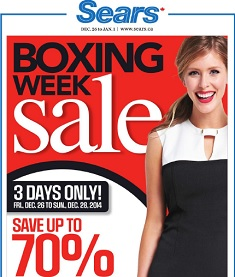 Sears Boxing Day Flyer