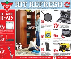 Canadian Tire Flyer 1/1-1/7/2016