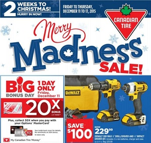 Canadian Tire Flyer 12/11-12/17/2015