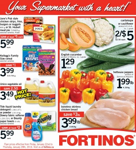 Fortinos Weekly Flyer 1/22-1/28/2016