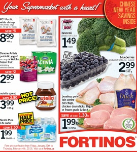 Fortinos Weekly Flyer 1/29-2/4/2016